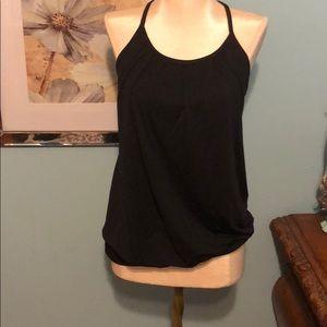 Black Lululemon Workout shirt with Built in Bra